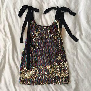 NBD Suri Rainbow Sequin Mini Dress NYE